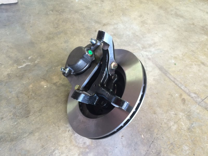 GM brake caliper with stock spindle