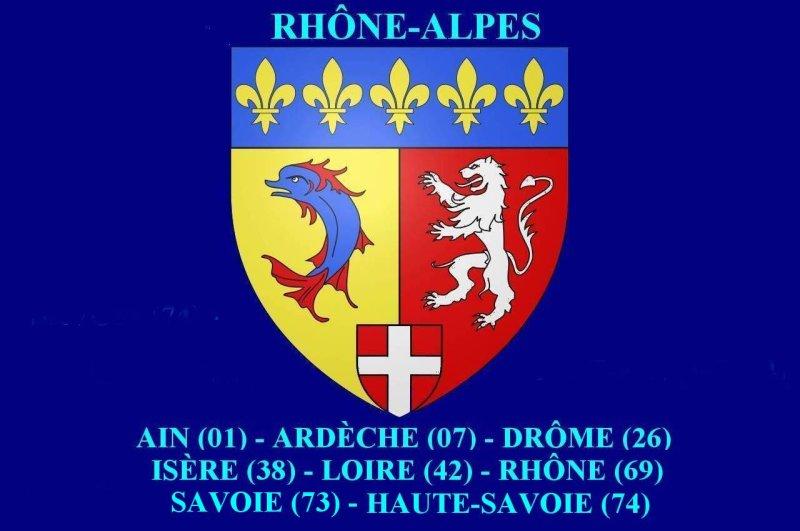 <strong>Blason de la Région Rhône-Alpes<br>Coat of arms of Rhône-Alpes region</strong>