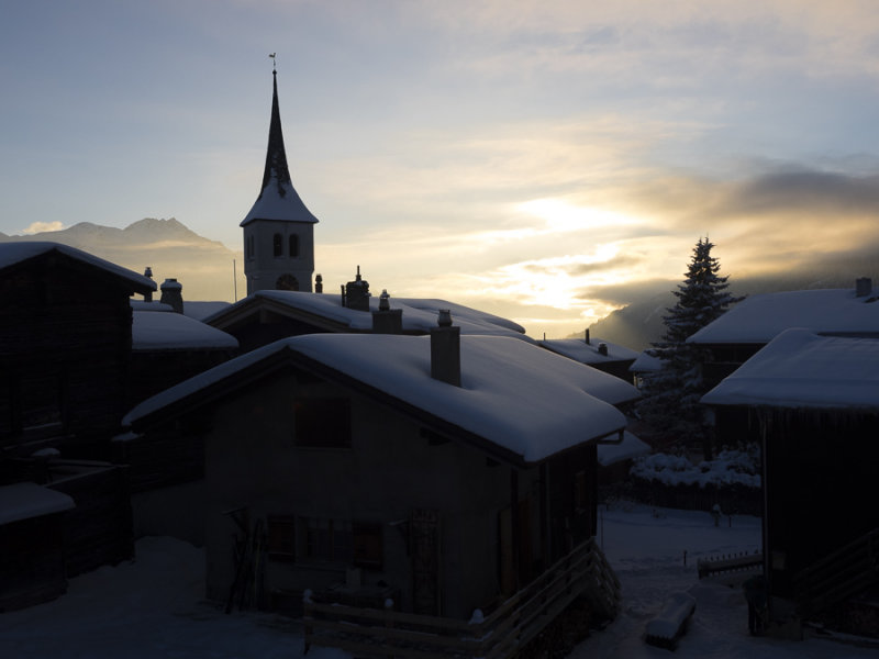 Village silhouette