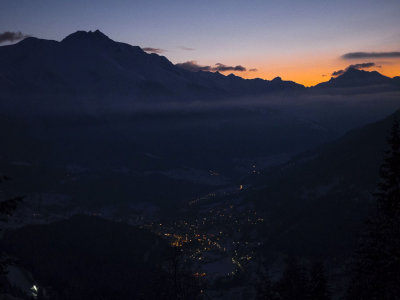 Sunset over the Rhone Valley