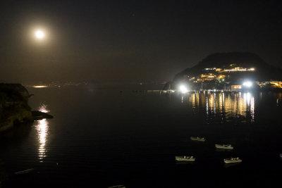 moon on the mediterranean