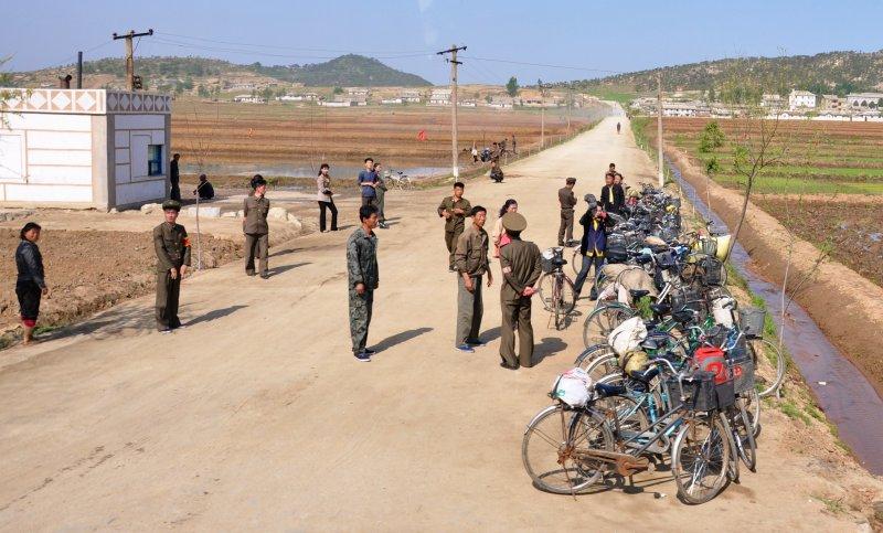 main method of transport in North Korean countryside