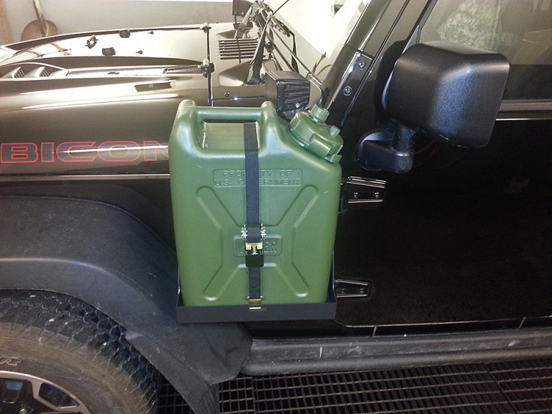 Side Mount Jerry Can Holder For Jk Wranglers Jeep