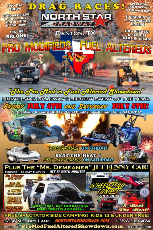 Pro Mod vs. Fuel Altered Showdown 2014