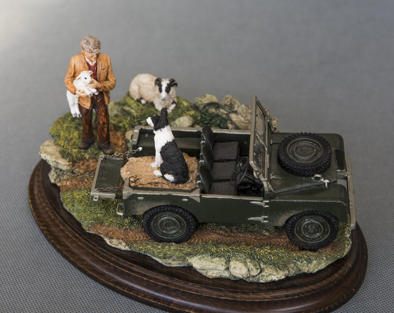 MODEL OF THE VERY FIRST LANDROVER EVER REGISTERED