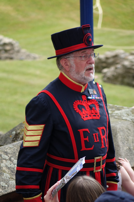 Our tour guide - a Yeoman Warder (the correct name for Beefeaters). This is the everyday uniform