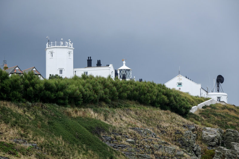 Closer view of the lighthouse complex