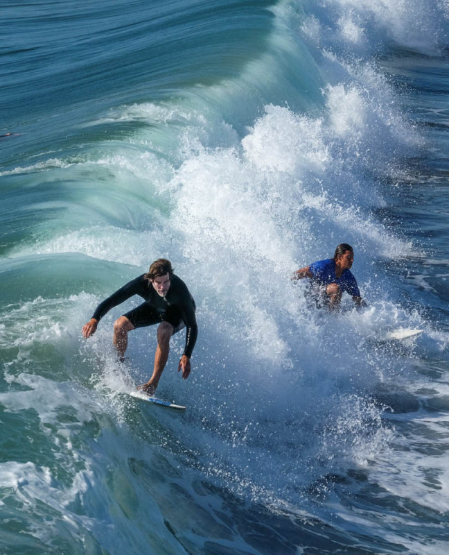 Sharing the wave, Imperial Beach, California, 2014