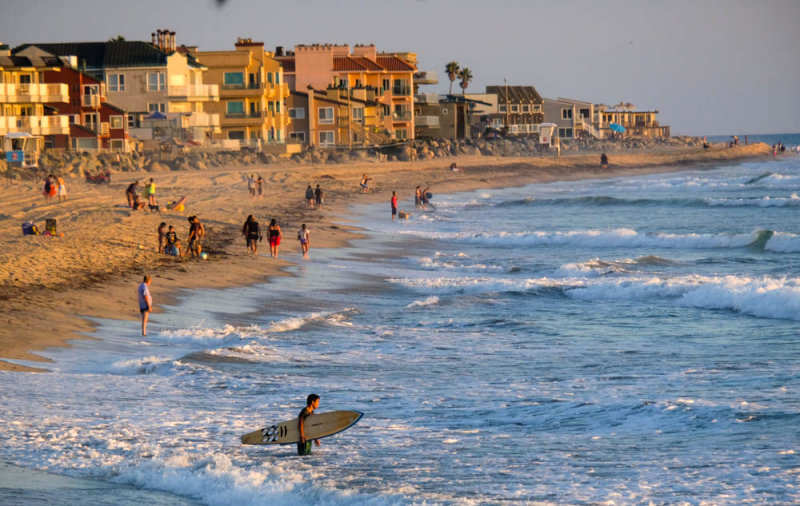 The west's last beach, Imperial Beach, California, 2014