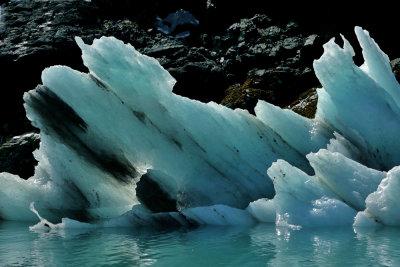 Blue ice, Glacier Bay National Park, Alaska, 2013