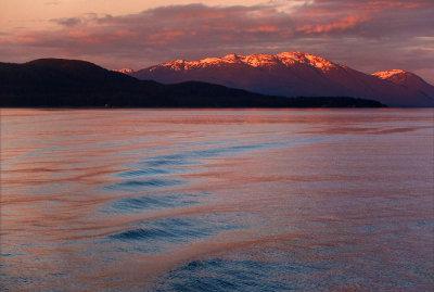 Last light on Chichagof Strait, near Funter Bay, Alaska, 2013