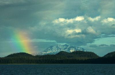 Rainbow over Admiralty Island, Alaska, 2013