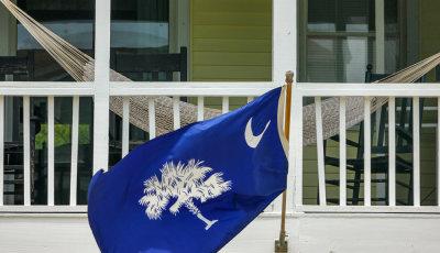 State flag, Isle of Palms, South Carolina, 2013