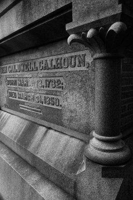 John C. Calhoun's tomb, St. Philip's Graveyard, Charleston, South  Carolina, 2013