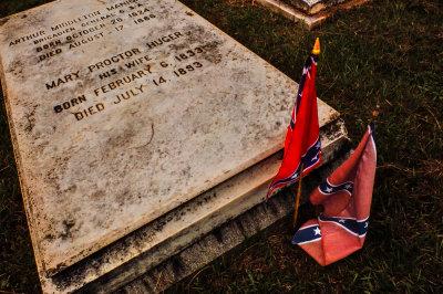 General's grave, Magnolia Cemetery, Charleston, South Carolina, 2013