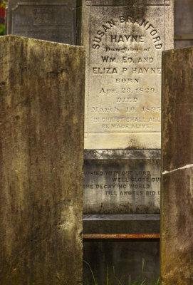 Eternal wall, Graveyard of the Circular Church, Charleston, South Carolina, 2013