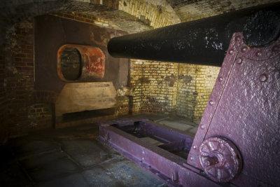 Gun port, Fort Sumter National Monument, Charleston, South Carolina, 2013