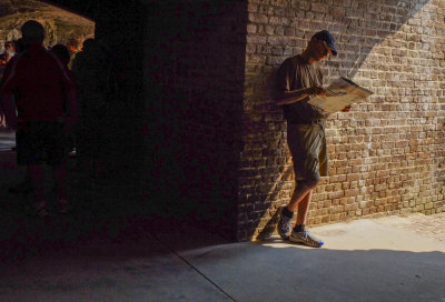 Shadows of the past, Fort Sumter National Monument, Charleston, South Carolina, 2013