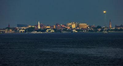 Harbor light, Charleston, South Carolina, 2013