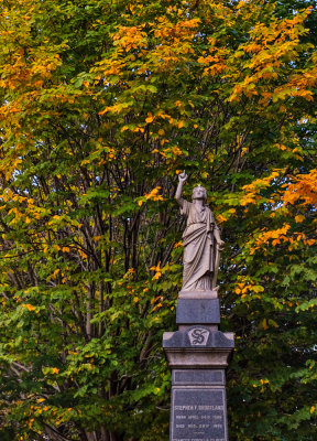 Changing seasons, Green-Wood Cemetery, Brooklyn, New York, 2013