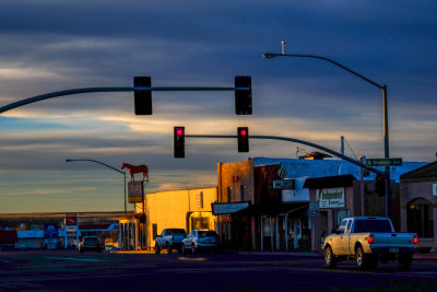Evening falls, Springerville, Arizona, 2014