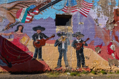 Decaying mural, Superior, Arizona, 2014