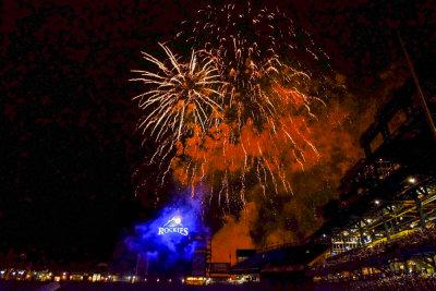 Fireworks, Coors Field, Denver, Colorado, 2014