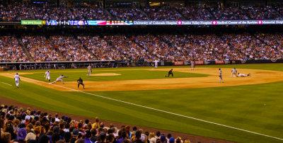 In play, Coors Field, Denver, Colorado, 2014