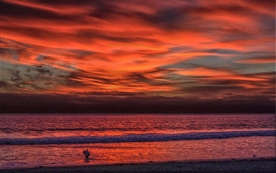 Fire and water, Imperial Beach, California, 2014