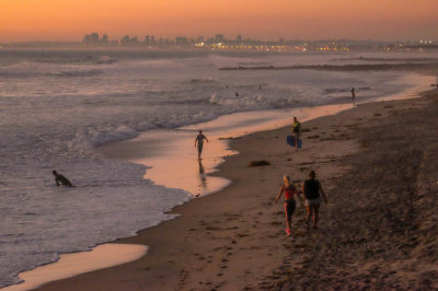 San Diego Bay at dusk, Imperial Beach, California, 2014