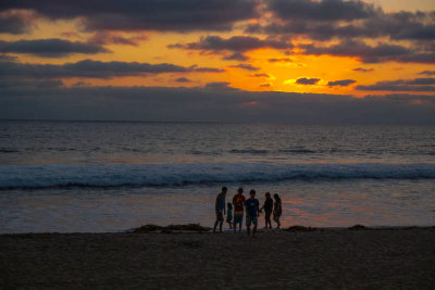 Gathering at sunset, Imperial Beach, California, 2014