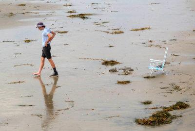 One foot a time, Imperial Beach, California, 2014