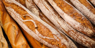 Baguettes, Farmer's market, Imperial Beach, California, 2014