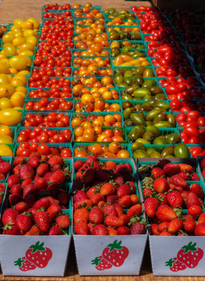Farmer's market produce, Imperial Beach, California, 2014