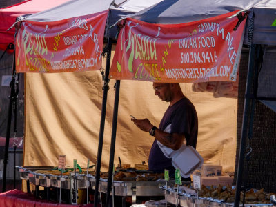 Farmer's market vendor, Imperial Beach, California, 2014
