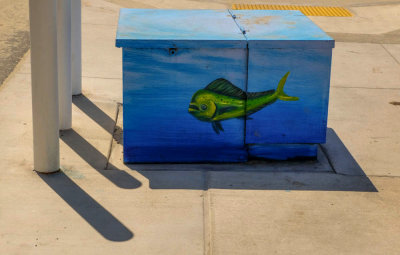 Painted electrical utility box, Imperial Beach, California, 2014.