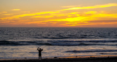 Suiting up, Imperial Beach, California, 2014