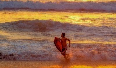 Golden moment, Imperial Beach, California, 2014