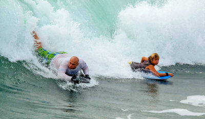 Body-boarders, Imperial Beach, California, 2014