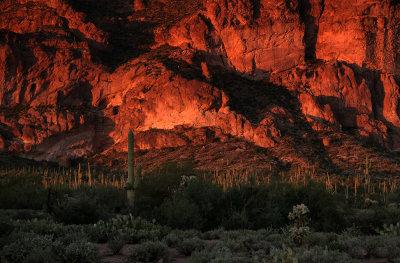 Sunset, Peralta Canyon, Arizona, 2014