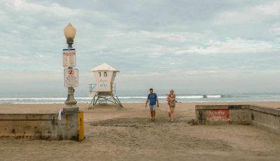 Heading home, Mission Beach, California, 2015