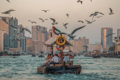 Crossing Dubai Creek, Dubai, United Arab Emirates, 2016