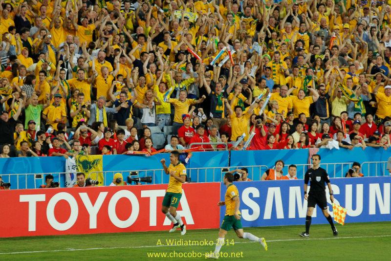 Australias 1st Goal