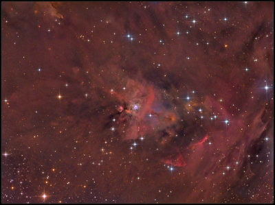 NGC 1999 -  and HH-222  widefield