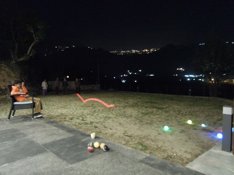 Play night time bocce