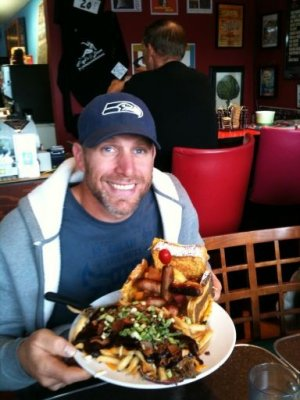 ROB WITH HIS HUGE MEAL