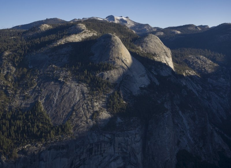 North Dome and Basket Dome, from Glacier Point
