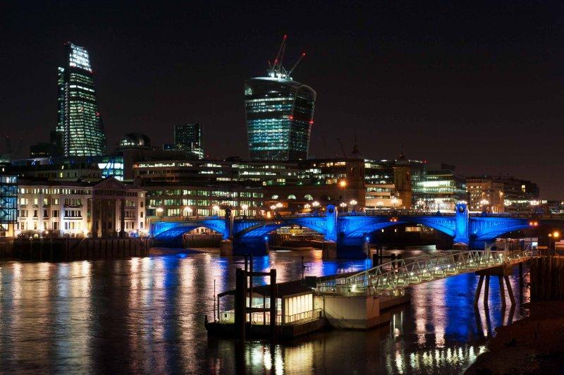 Southwark Bridge and City Skyline