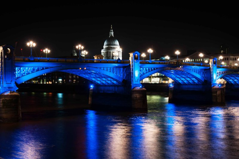Southwark Bridge and St. Pauls Cathedral