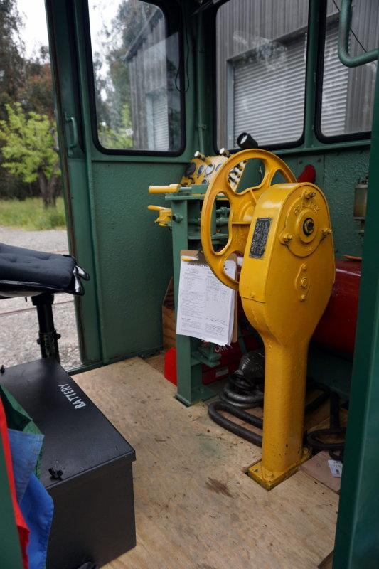 Inside Katies cab after 2016 refurbishment